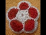 Цветок крючком модель 1