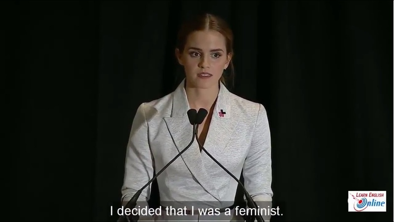 Learn English with Emma Watsons Speech on the HeForShe Campaign - English Subtitle
