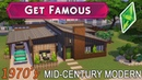 Sims 4 - 1970S MID CENTURY FAMILY HOME - GET FAMOUS Speed Build - NoCC