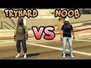 Tryharder VS noob gta5 online. Дуэль трайхардера против нуба в гта5 онлайн