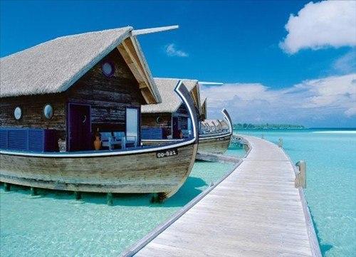 Отель на лодках, Мальдивы