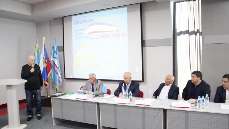 Выступление представителя общественной организации Санкт-Петербургского землячества Владимира Сергеевича Крылова