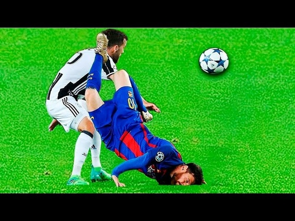 Red Card Brutal Fouls Tackle on Lionel Messi Football 2017