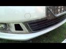 снятие решётки бампера сетка в бампер, VW polo sedan
