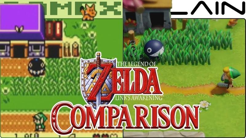 «The Legend of Zelda Links Awakening — сравнение графики (Nintendo Switch против Game Boy Color)» | GameXplain