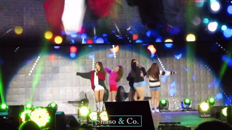 151004 Red Velvet – Ice Cream Cake @ Gangnam K-pop Festival Fancam
