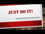 Learn Polish - Unit 2 Lesson 10 - just do it - polish for beginners