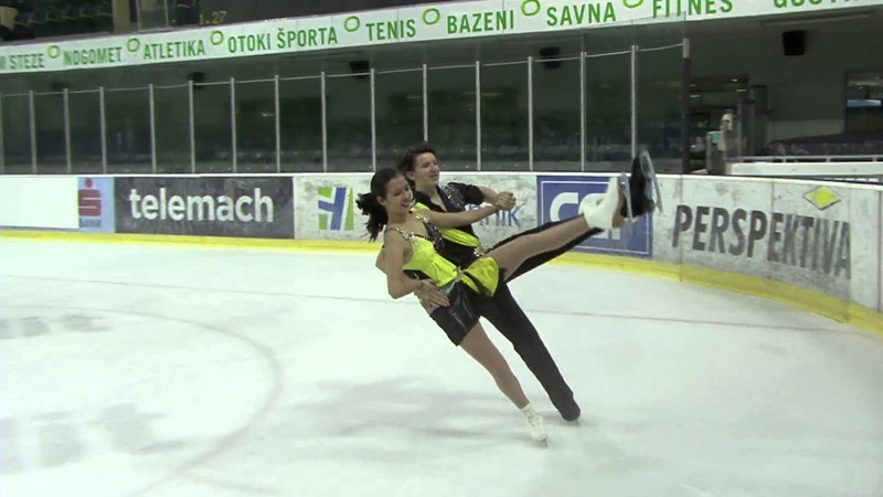 ISU 2014 Jr Grand Prix Ljubljana Short Dance Christine SMITH Simon EISENBAUER AUT