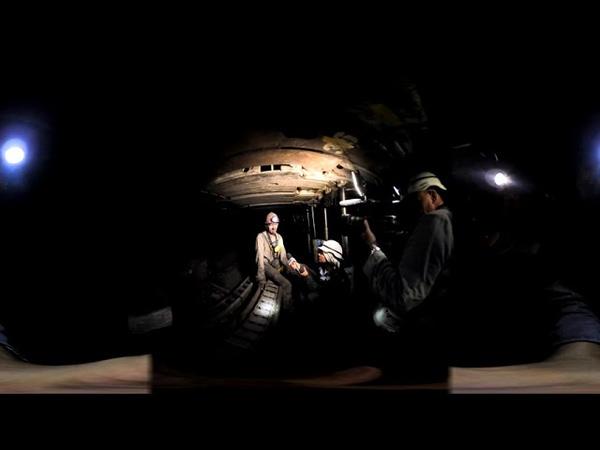 Луганск Видео 360 в шахте Lugansk Video 360 in the mine