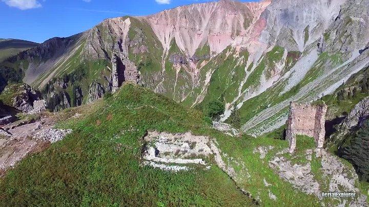 Khikhani Fortress _ ხიხანის ციხე _ Крепость Хихани _ - 4K aerial video footage DJI Inspire 1 - 720P HD
