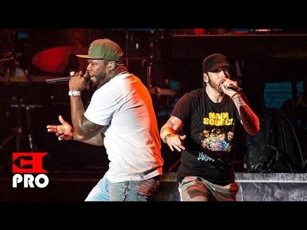Eminem ft. 50 Cent - Patiently Waiting, In Da Club, I Get Money, Crack a Bottle [Multicam] (NY 2018)
