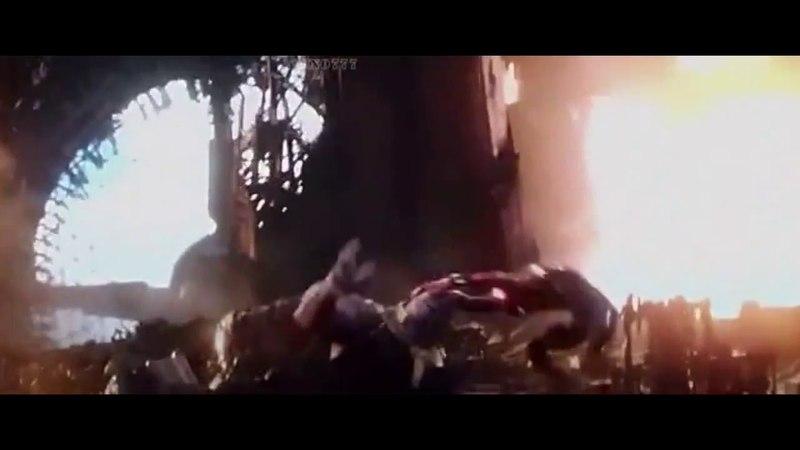 Человек-паук против Таноса. Фокус-покус. Отрывки из фильма Мстители Война бесконечности - 2018