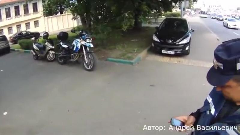 Как МОТОБАТ ДПС ловит мотоциклистов. Подборка сезона 2014. часть 1