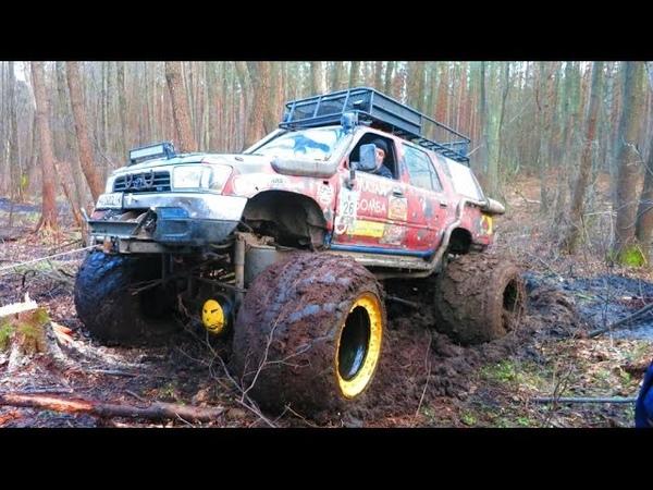 Offroad 4x4 hard mudding deep mud full time 4wd внедорожники на бездорожье Crazy offroad mudding!