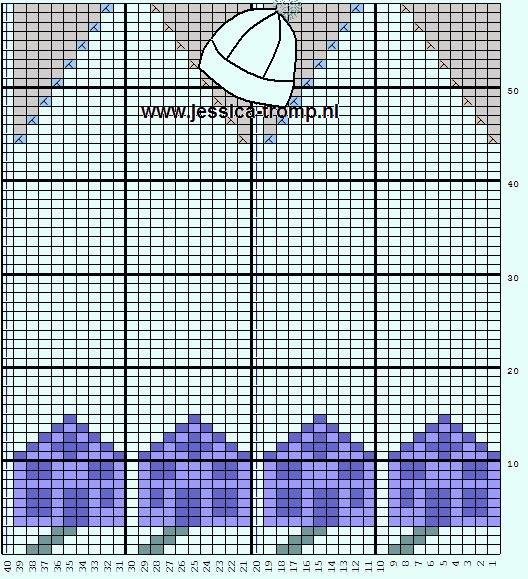 提花帽子图解 - 编织幸福 - 编织幸福的博客