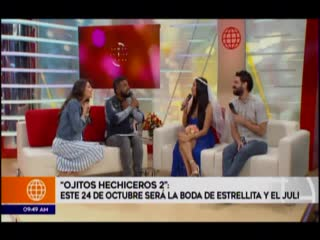Entrevista a Melissa Paredes y Sebastian Monteghirfo en AE