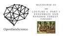 Lecture 5. Part 1. Ensembles and Random Forest. Theory
