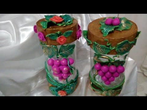Porta mantimentos ou Bomboniere feita de garrafa Pet