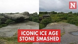 Brimham Rocks Formation From Ice Age Destroyed By Vandals