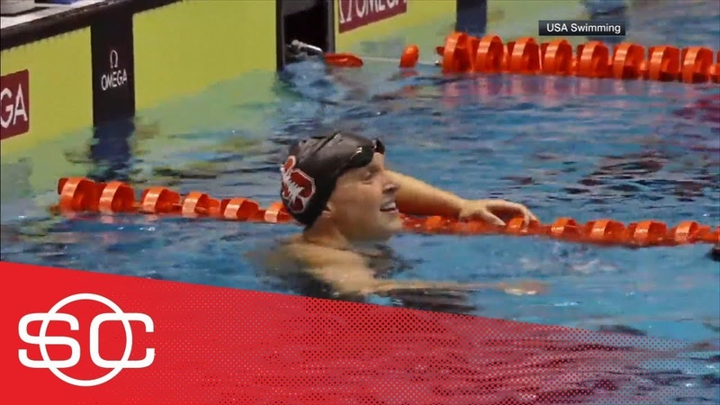 Katie Ledecky breaks own world record in 1500M freestyle in professional debut SportsCenter ESPN