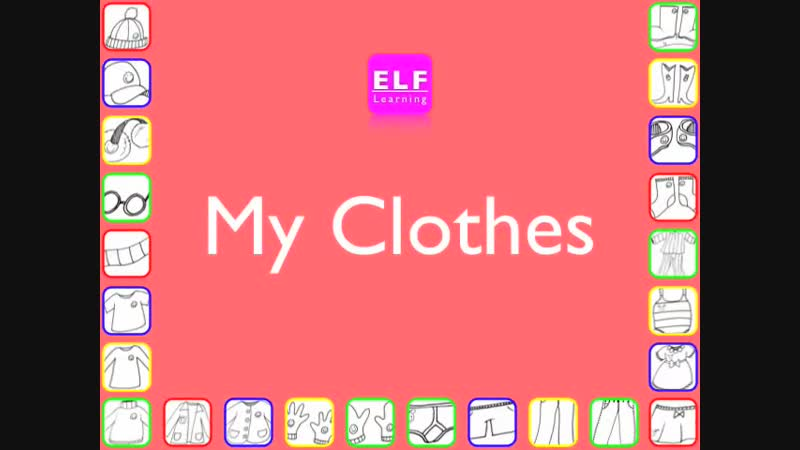 Clothes Flashcards My Clothes Phonics and Word Families