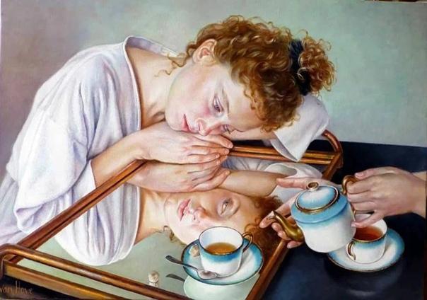 Франсин Ван Хов (1942 г р.)-французская художница, специализирующаяся на фигуративной живописи пастелью. Бакалавр парижского института искусств. Знаменита своими изображениями женского образа в
