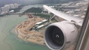 United Airlines Boeing 777-200ER takeoff from Hong Kong - Businessfirst - to Newark - Engine View