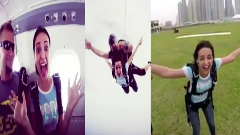 Sanaya irani upload her Skydiving Video | Adventure | Holiday in Dubai | Travellin