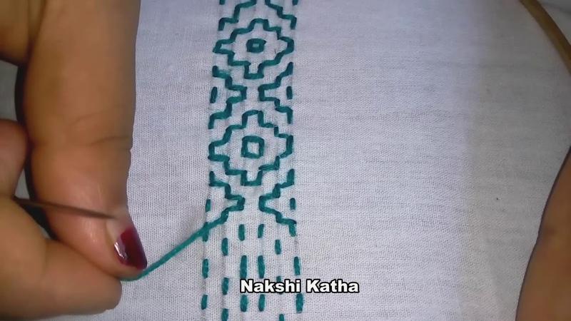 Hand Embroidery Nakshi Katha New Design video tutorial.।বাংলাদেশি নকশী কাথার ডিজাইন.