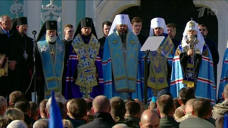 НаУкраине подрались захрам священники двух раскольнических церквей