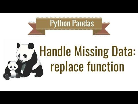 Python Pandas Tutorial 6. Handle Missing Data: replace function