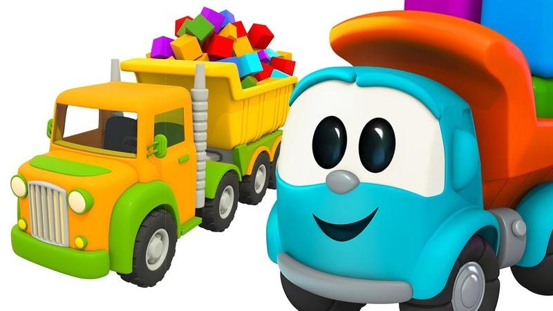 Dessin animé en français de Leo le camion: assemblage d'un camion