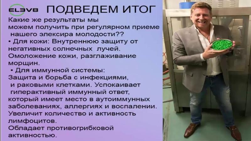 BEPIC КОРОТКО, НО КОМПЕТЕНТНО О ПРОДУКТЕ ELEV8