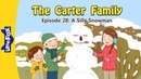 The Carter Family 28: A Silly Snowman | Level 3 | By Little Fox