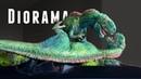 DIY Dinosaur Diorama Base! Grass, Terrain And Painting!