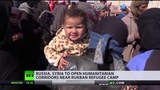 RUSSIA, SYRIA TO OPEN 2 CORRIDORS FOR REFUGEES STRANDED IN US-CONTROLLED AREA.