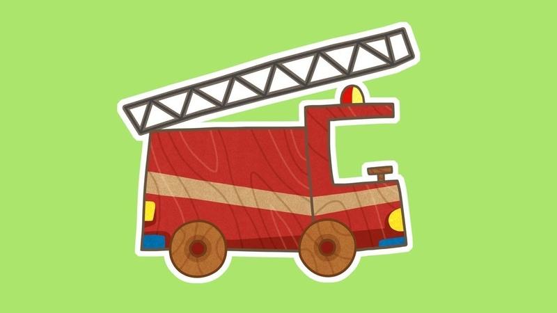 Dessin animé en français pour enfants de voitures un camion de pompiers