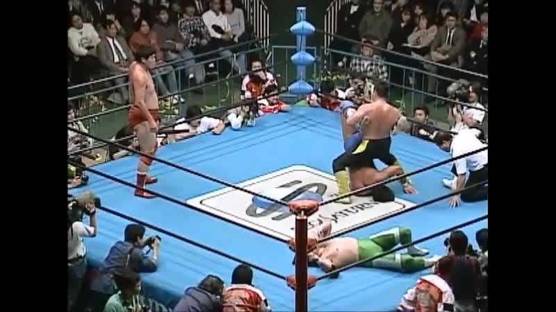 1997.12.05 - Akira Taue/Toshiaki Kawada vs. Jun Akiyama/Mitsuharu Misawa
