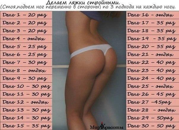 как похудеть в попе за месяц