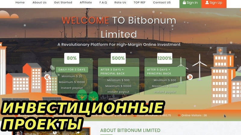 Инвестиционный Хайп Проект Bitbonum Обзор 2018 Платит От 3.5% В Час