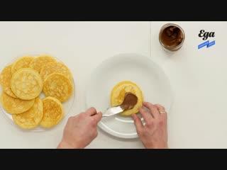Панкейки с nutella