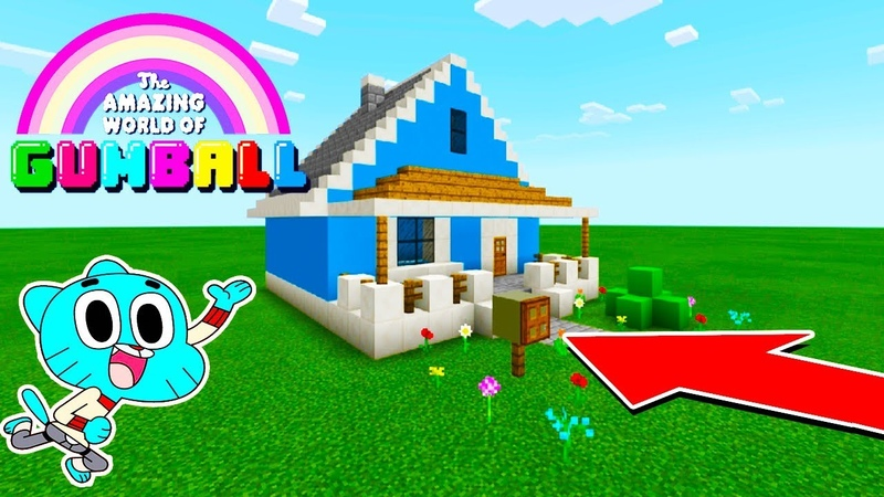 Minecraft How To Make Gumballs Hidden Base House Amazing World Of Gumball House