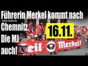 Merkel kommt nach Chemnitz Die Merkeljugend hält sich bereit Heil Merkel Die Demo
