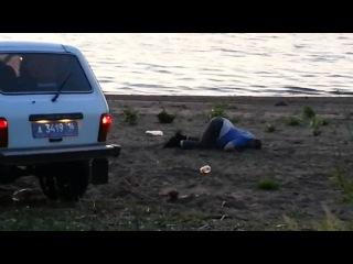Бухие Гаишники за рулем, отдыхают на пляже, беспредел!! Набередные Челны