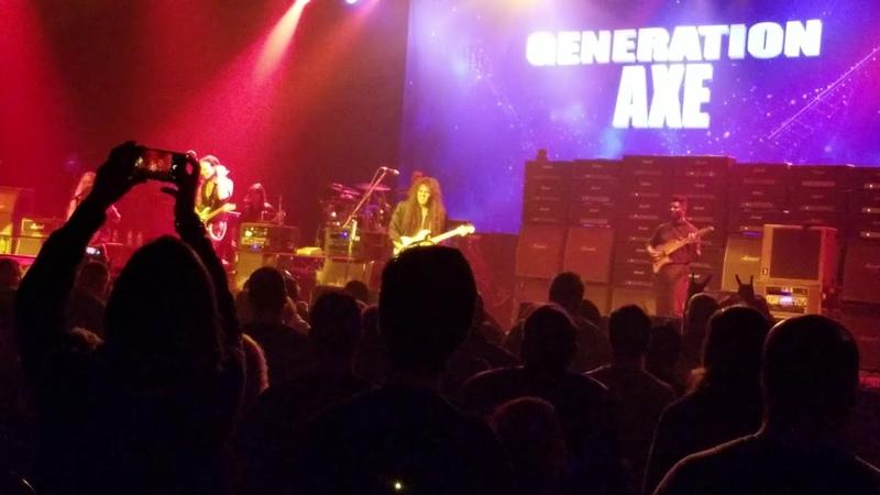 Generation Axe 11/9/2018 Steve Vai , Zakk Wyld , Tobin abasi ,