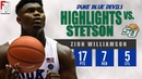 Zion Williamson Duke vs Stetson - Highlights 12.1.18 17 Pts, 7 Rebounds