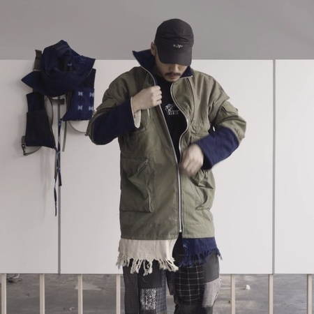 Latreartandstyle x tiredlab jacket reverses and stows into a bagpillow