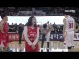 [140315] SK vs Orions - Dal★Shabet (달샤벳) Gaeun (가은) & Woohee (우희) Cut