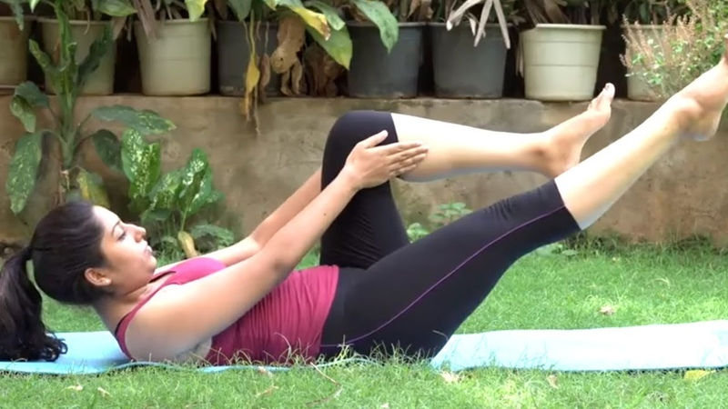 4 Exercises For A Flat Stomach At Home - Yoga Poses for Reduce Belly Fat | Power Yoga | Fit a Bit TV