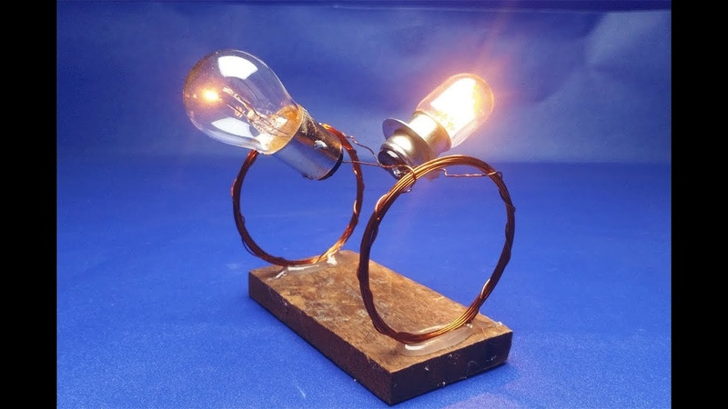 Copper wire with light bulbs , free energy generator , new idea